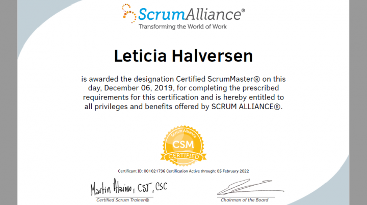 Leticia Halversen (Datco – Certified ScrumMaster)